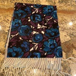 Nordstrom 100% cashmere floral scarf